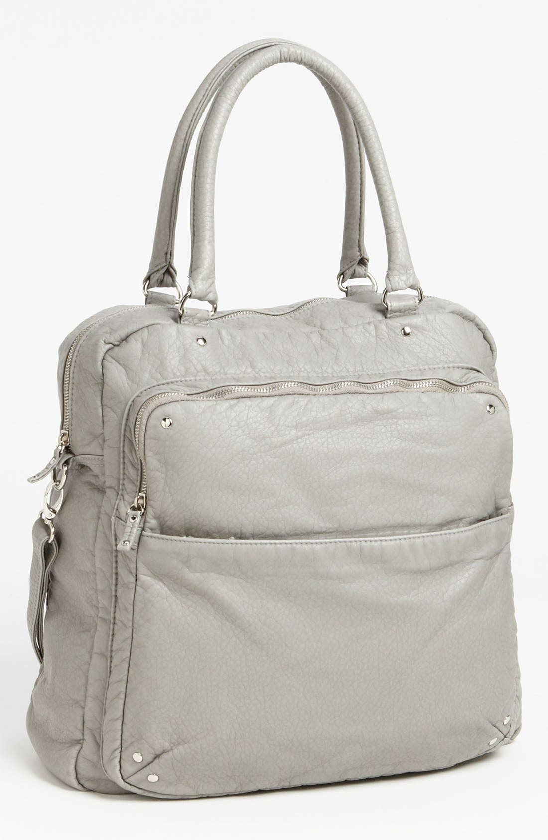 Alternate Image 1 Selected - Topshop Washed Faux Leather Satchel