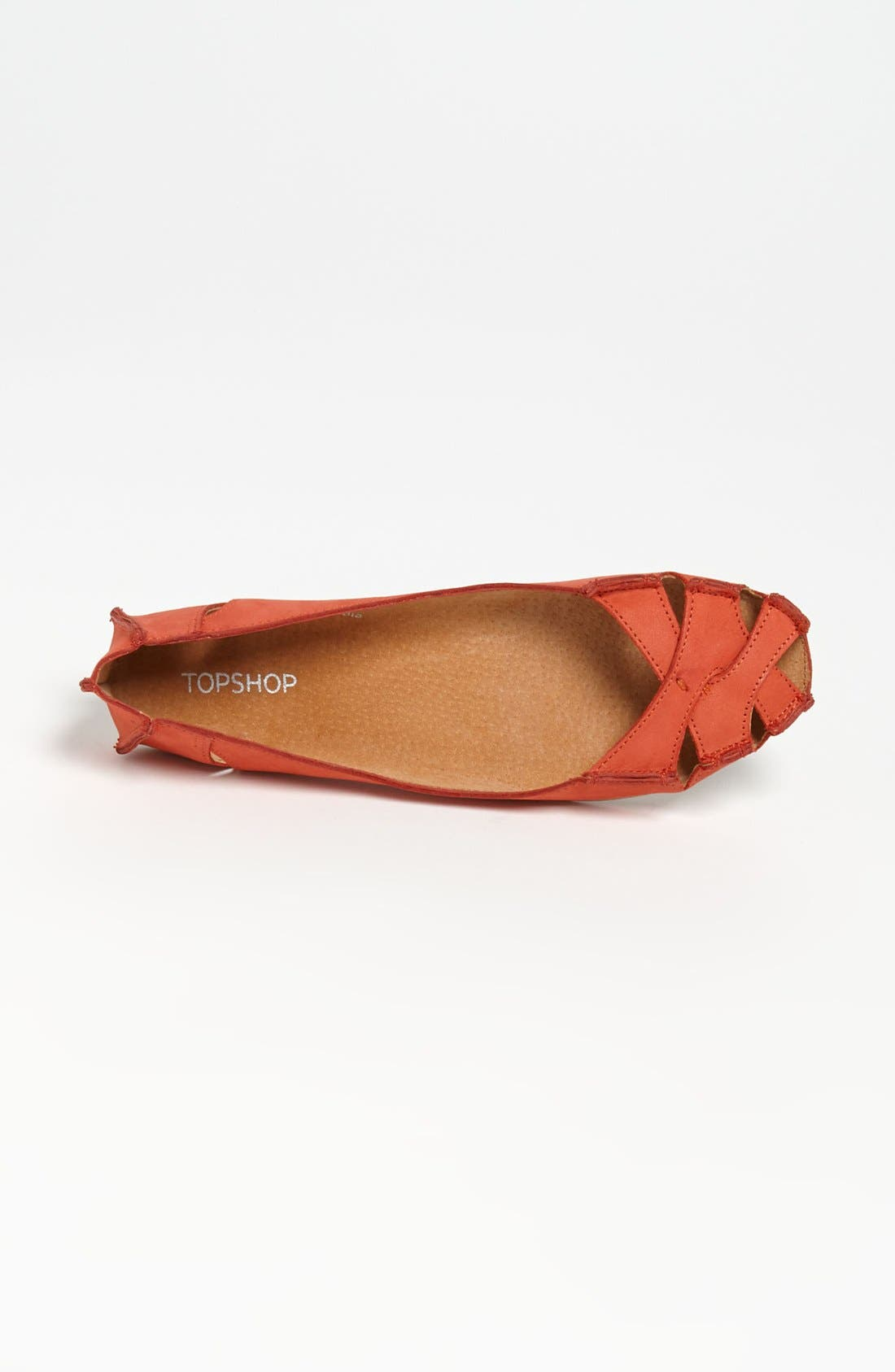 Alternate Image 3  - Topshop Cutout Flats
