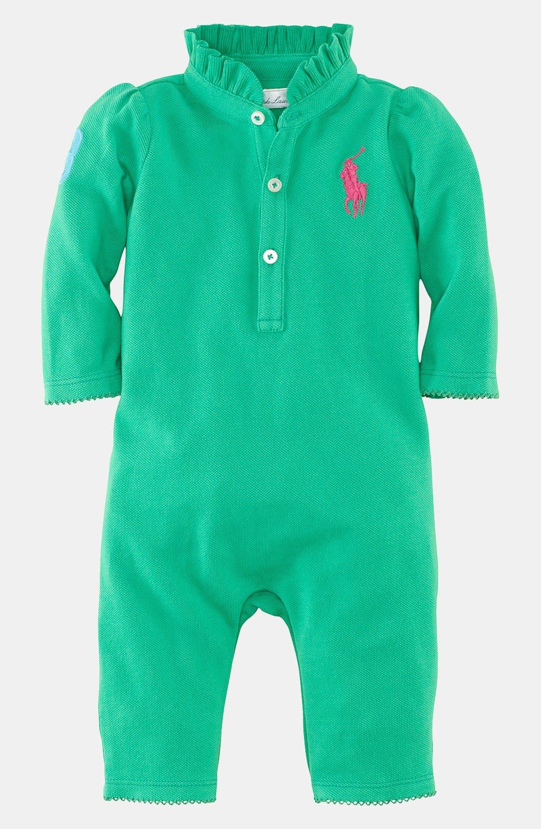 Alternate Image 1 Selected - Ralph Lauren Coverall (Baby)