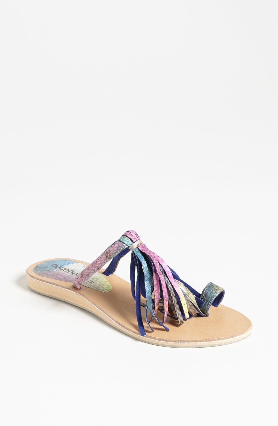 Alternate Image 1 Selected - Cocobelle Fringe Sandal