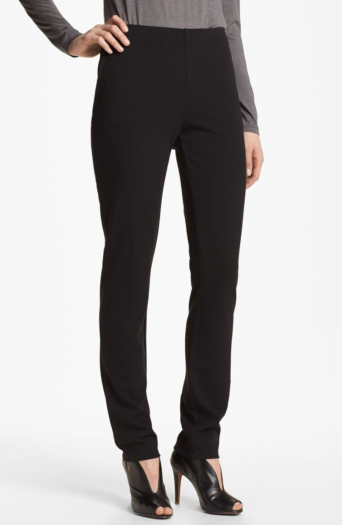 Alternate Image 1 Selected - Eileen Fisher Shell & Ponte Pants