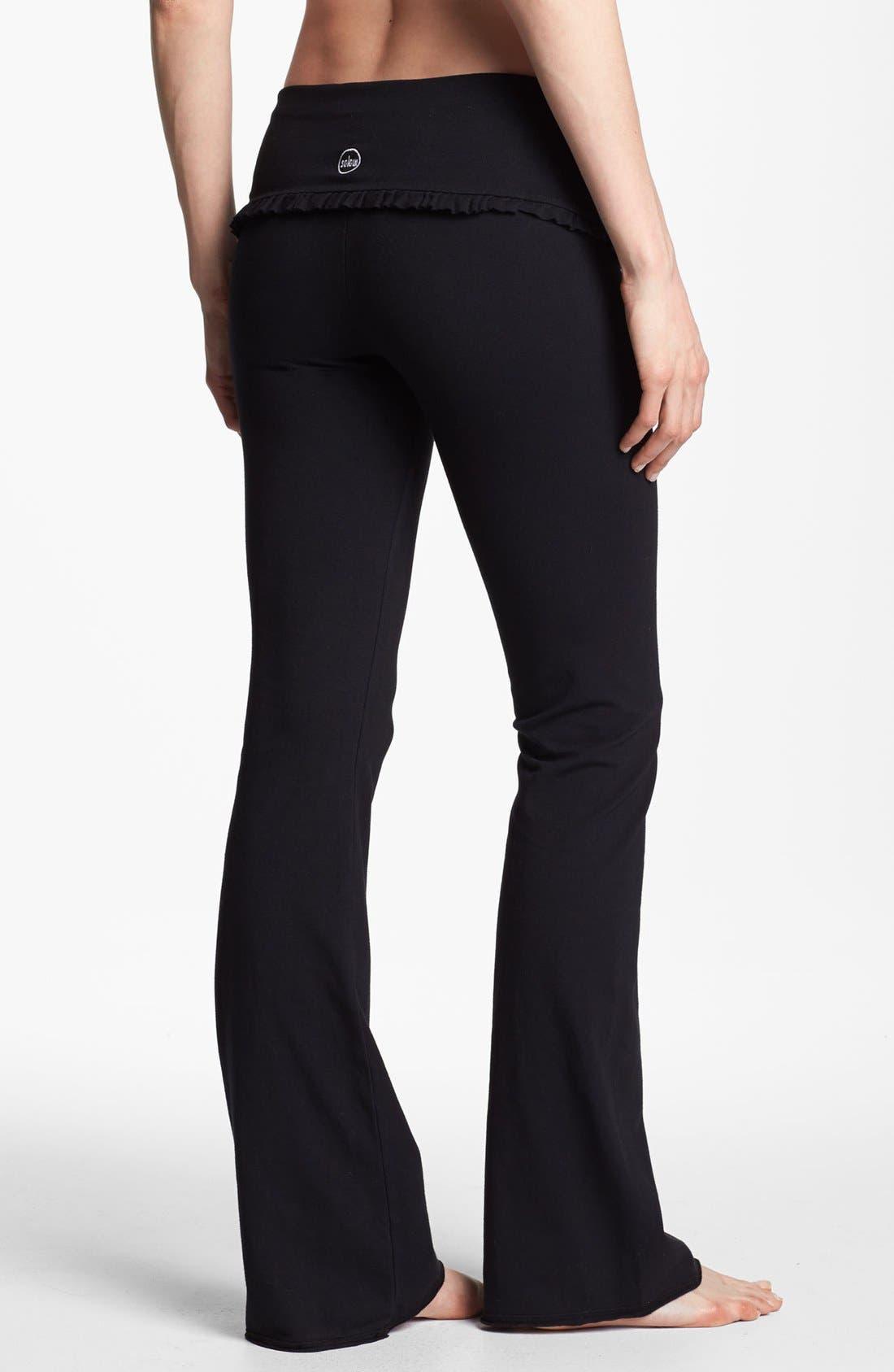 Alternate Image 2  - Solow Ruffle Foldover Pants