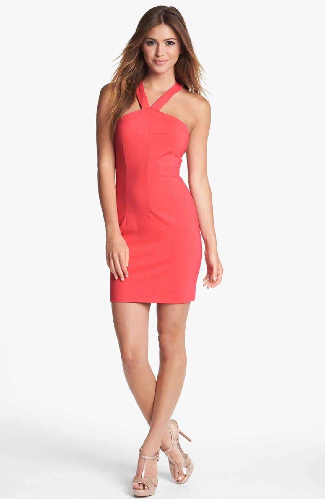 Alternate Image 1 Selected - ERIN erin fetherston Ponte Knit Halter Dress