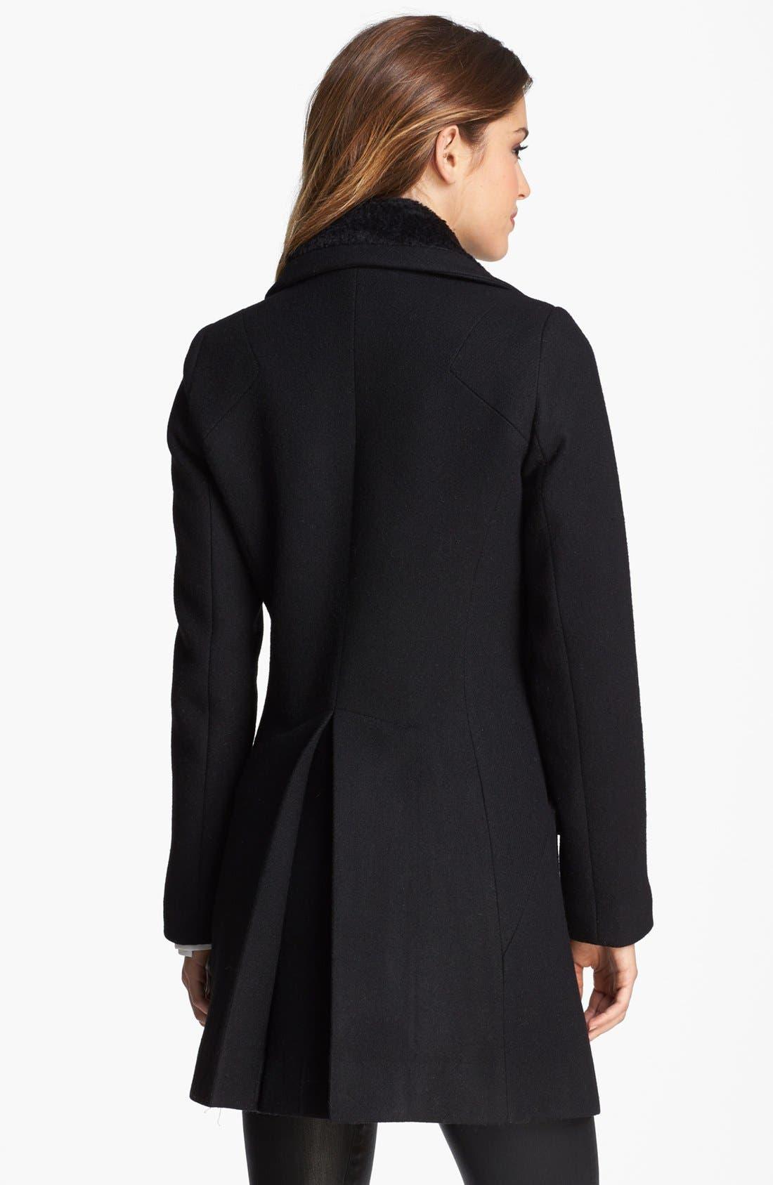 Alternate Image 2  - Trina Turk Double Breasted Officer's Coat (Regular & Petite)
