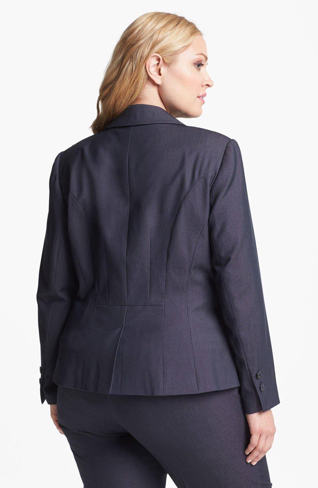 Alternate Image 2  - Sejour Single Button Jacket (Plus Size)