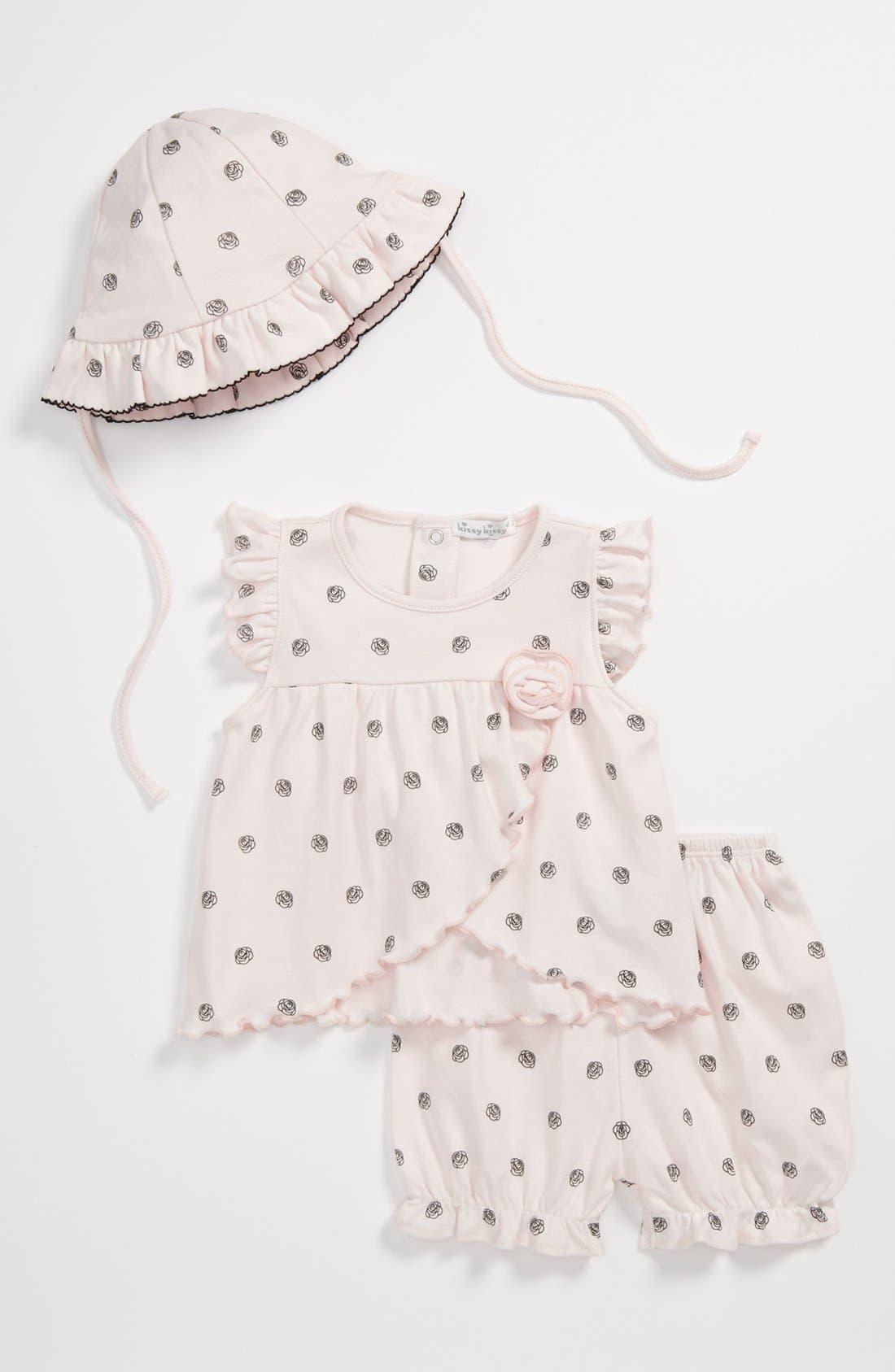 Main Image - Kissy Kissy 'Charisma' Top, Pants & Hat (Baby)