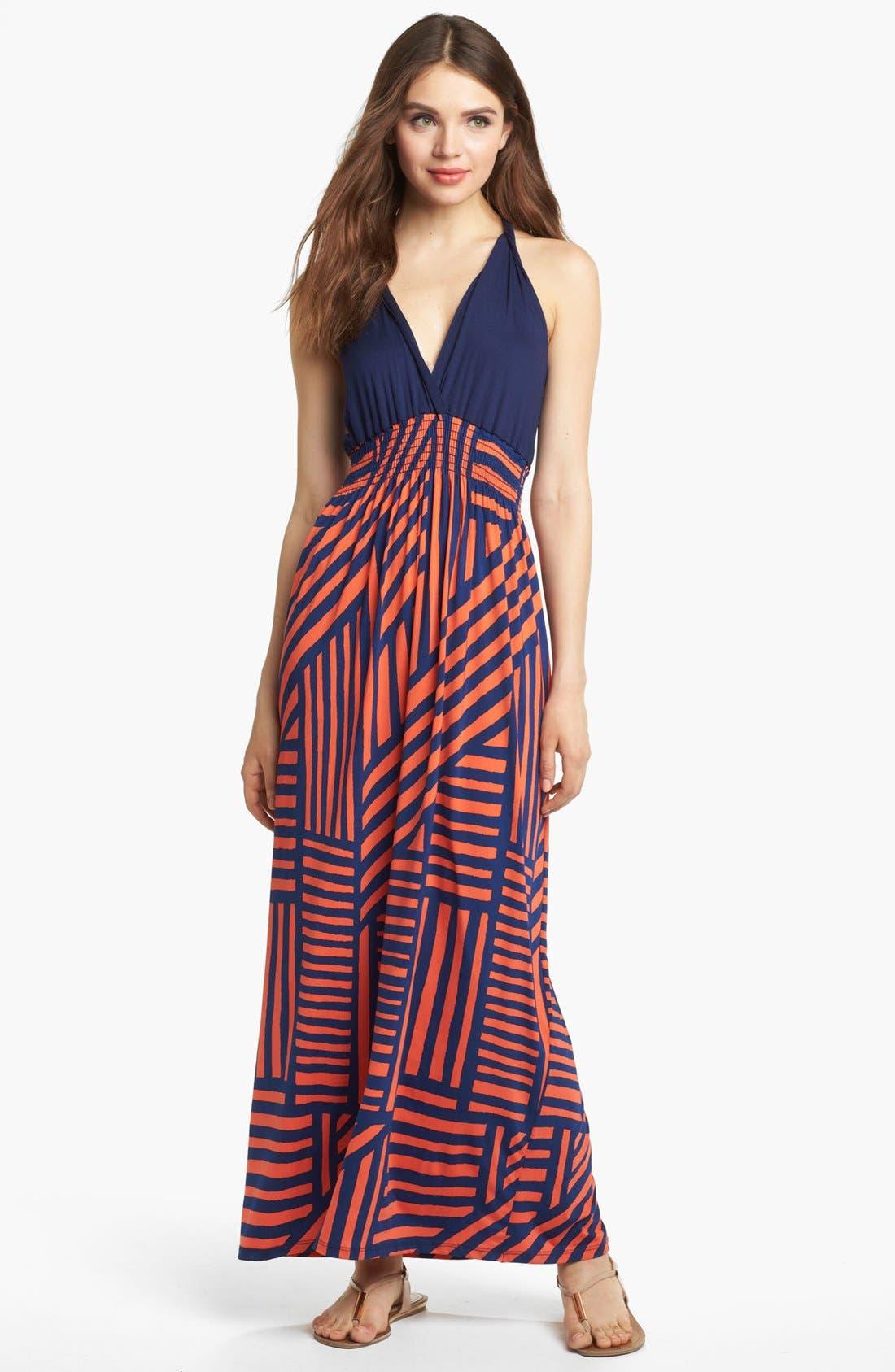 Alternate Image 1 Selected - Felicity & Coco Printed Maxi Dress (Regular & Petite) (Nordstrom Exclusive)