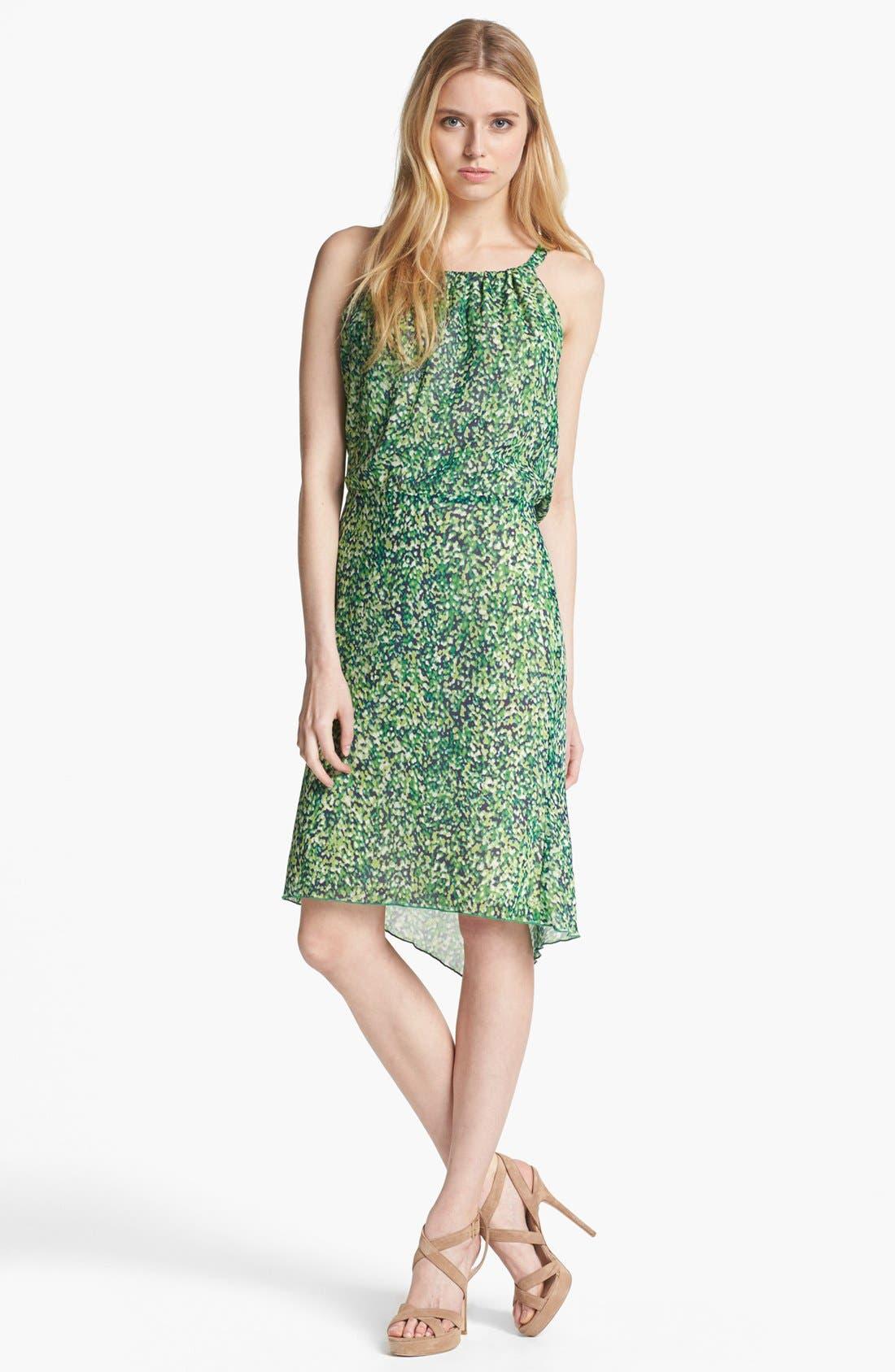 Alternate Image 1 Selected - Rachel Roy 'Color Burst' Silk Blouson Dress