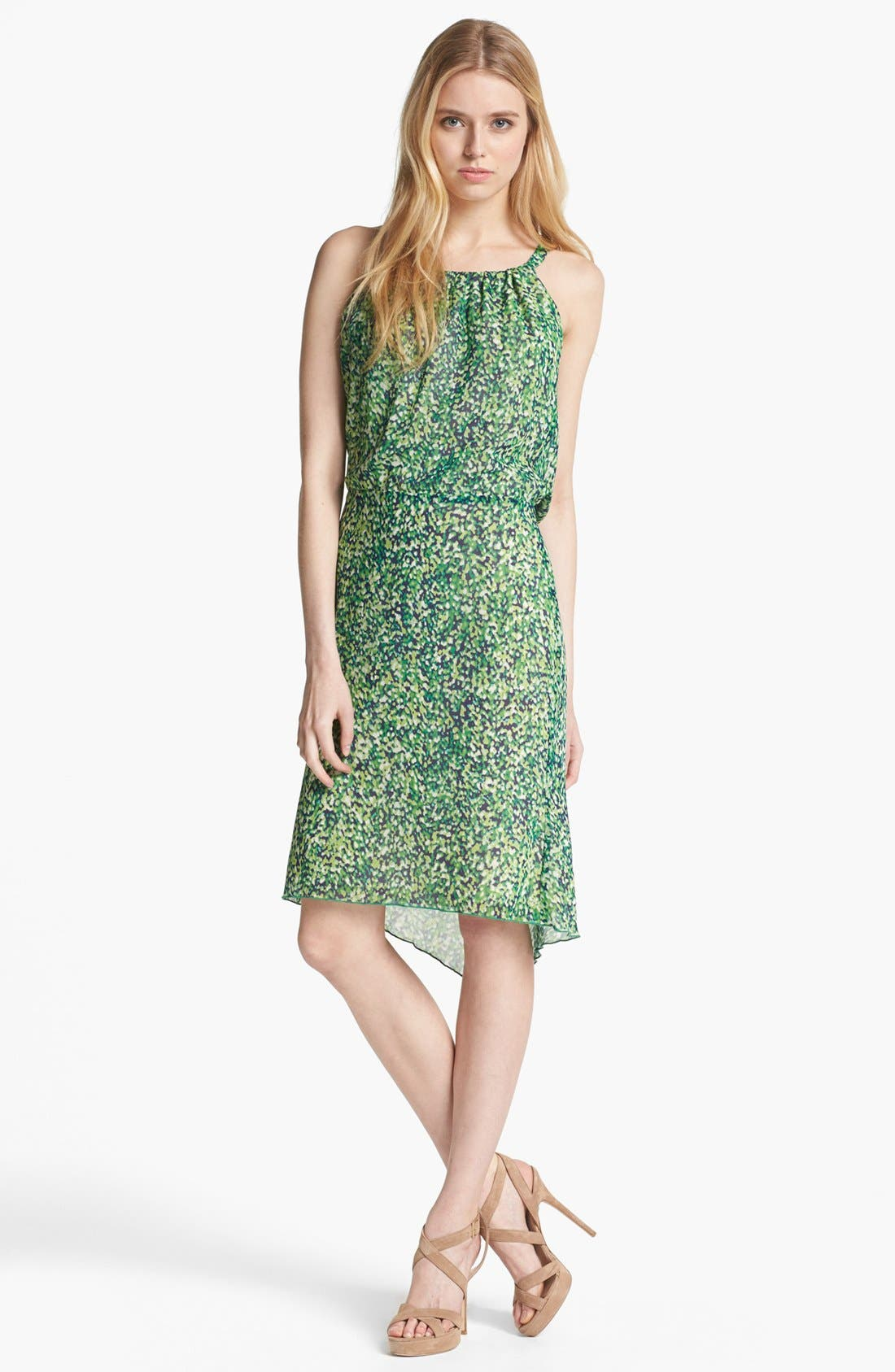Main Image - Rachel Roy 'Color Burst' Silk Blouson Dress