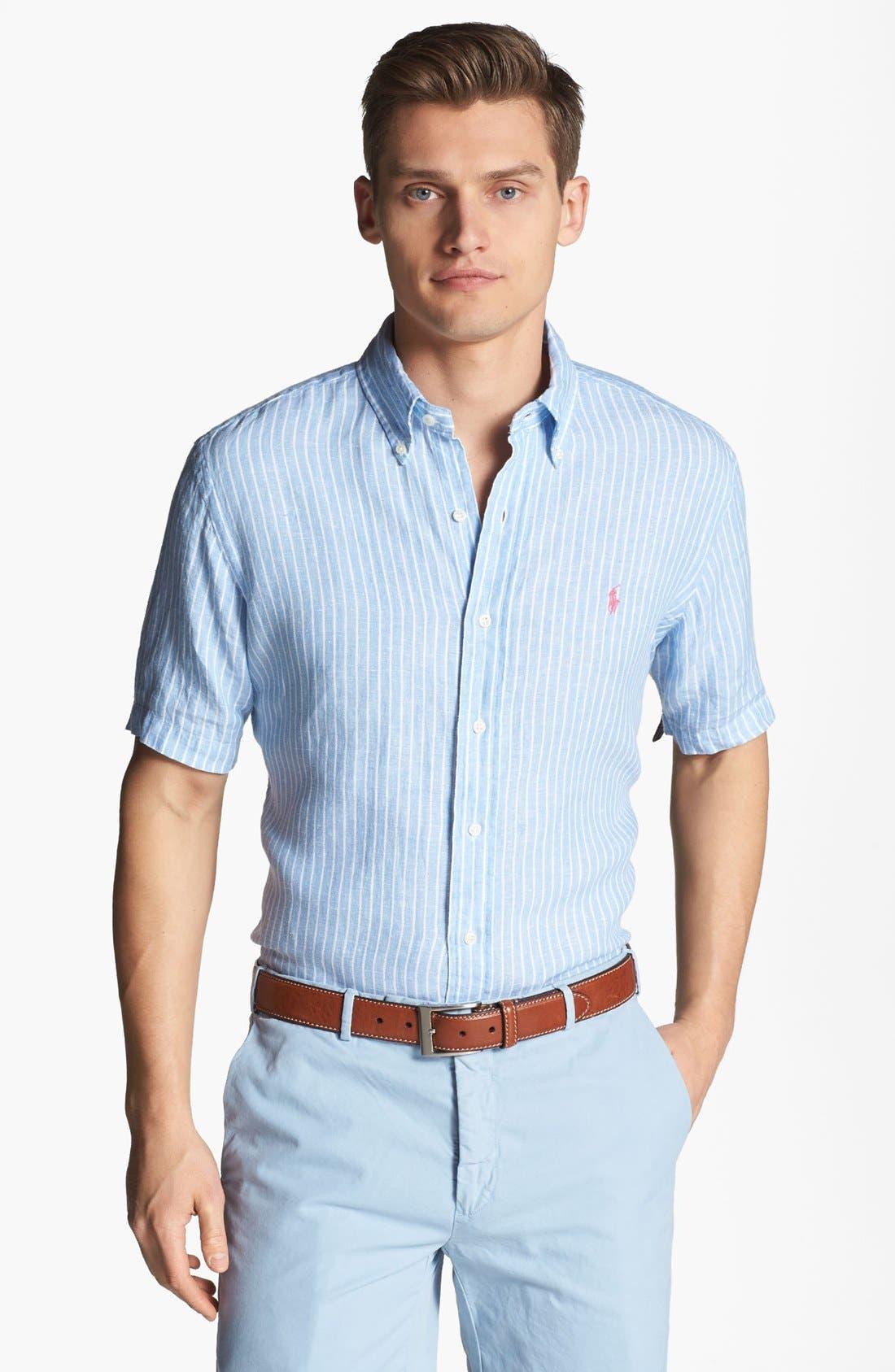 Alternate Image 1 Selected - Polo Ralph Lauren Classic Fit Linen Sport Shirt