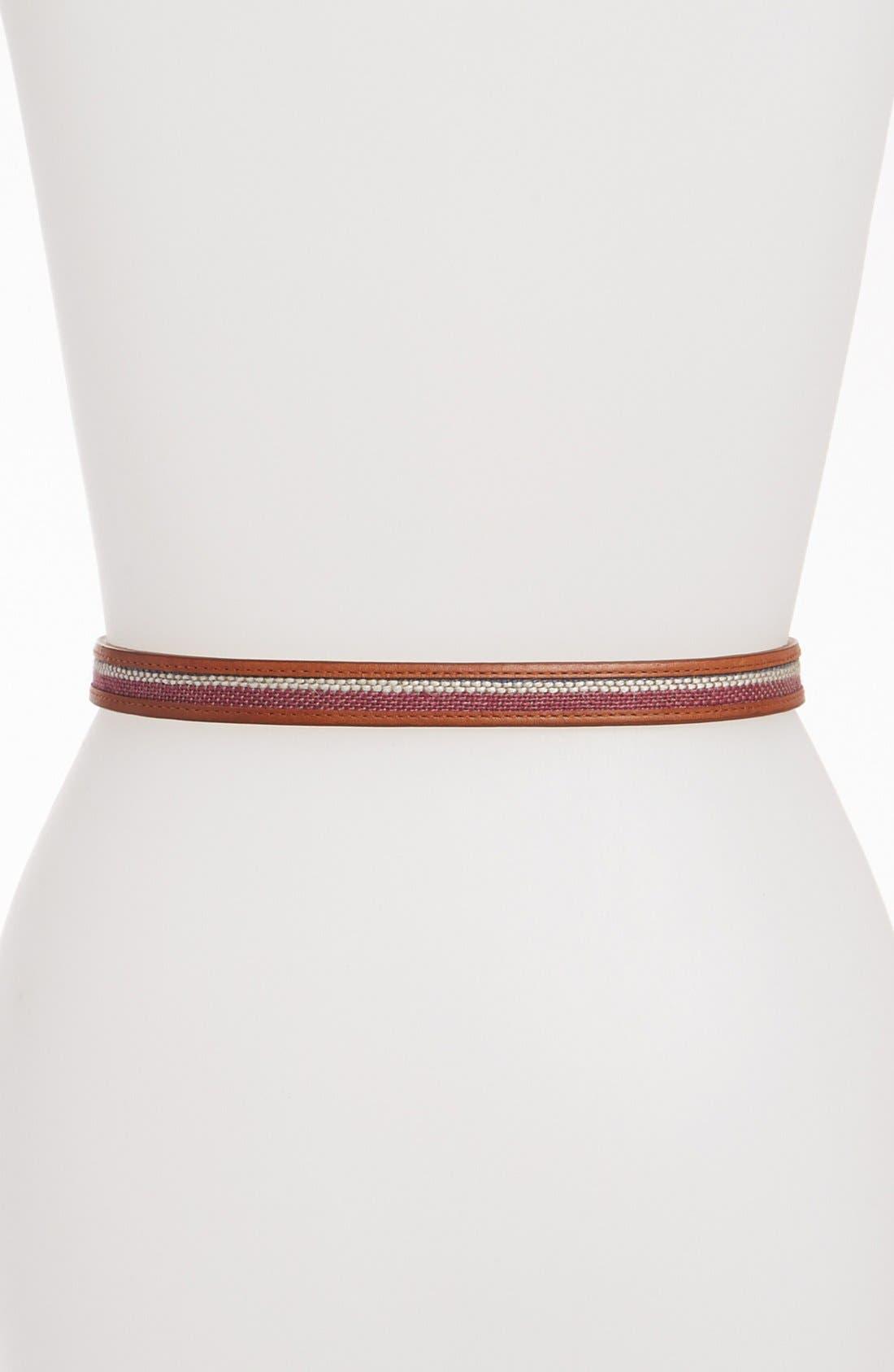 Alternate Image 2  - Vince Camuto Stripe Raffia Belt