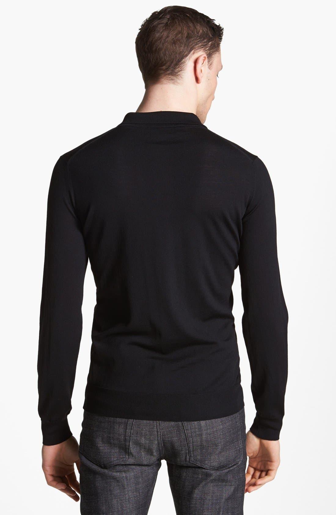 Alternate Image 2  - Salvatore Ferragamo Half Zip Polo Sweater