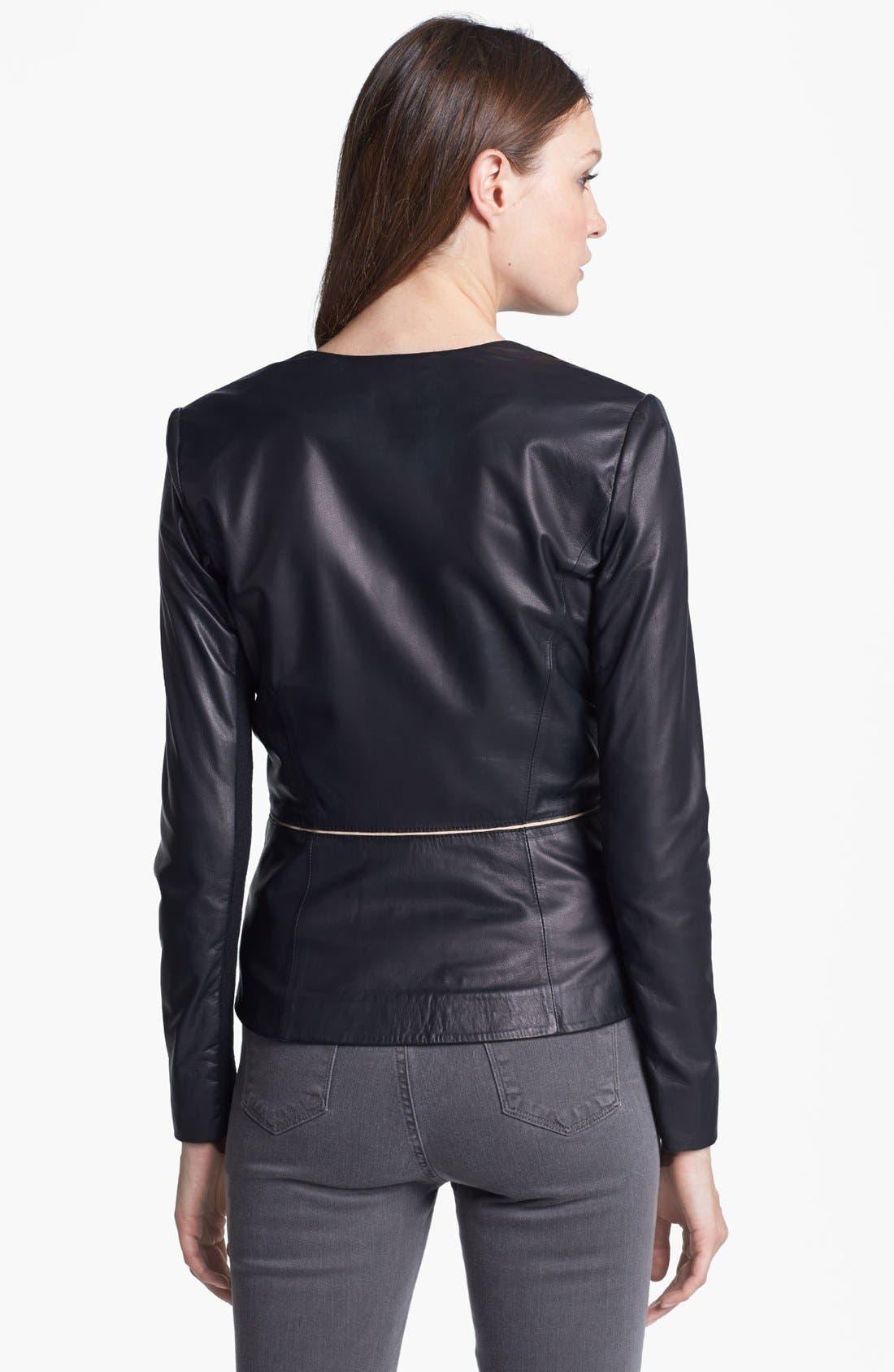 Alternate Image 2  - Rebecca Taylor Leather Blazer