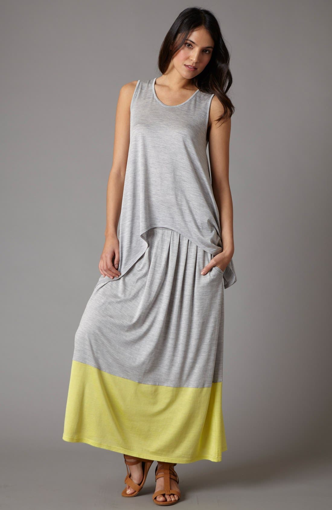 Alternate Image 5  - Eileen Fisher Pleated Colorblock Midi Skirt (Regular & Petite)