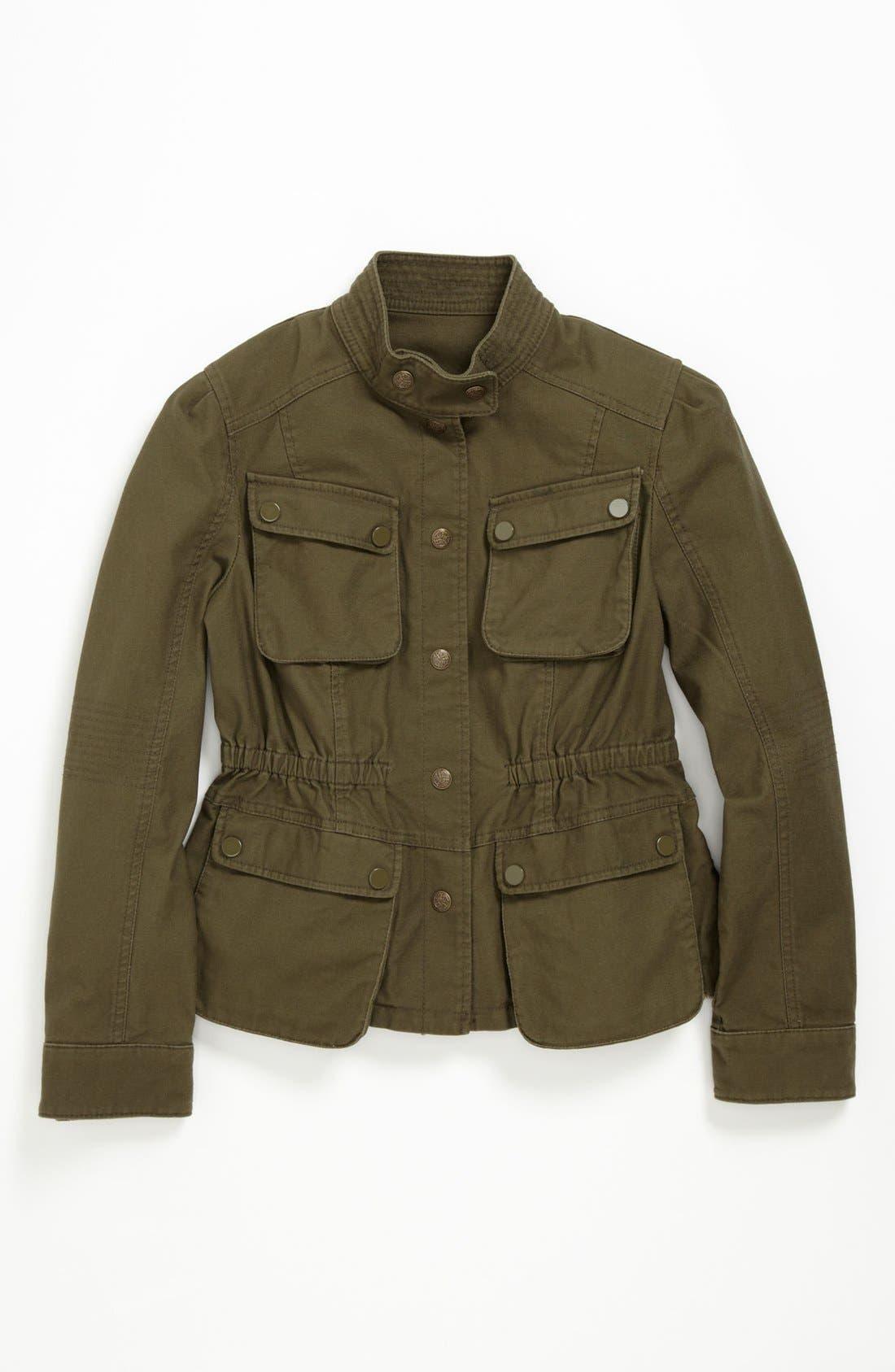Alternate Image 1 Selected - Collection B Cotton Cargo Jacket (Big Girls)