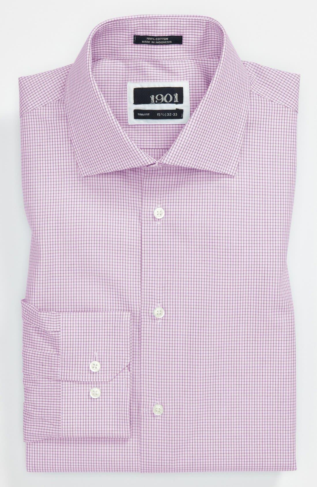 Trim Fit Dress Shirt,                         Main,                         color, Lavender