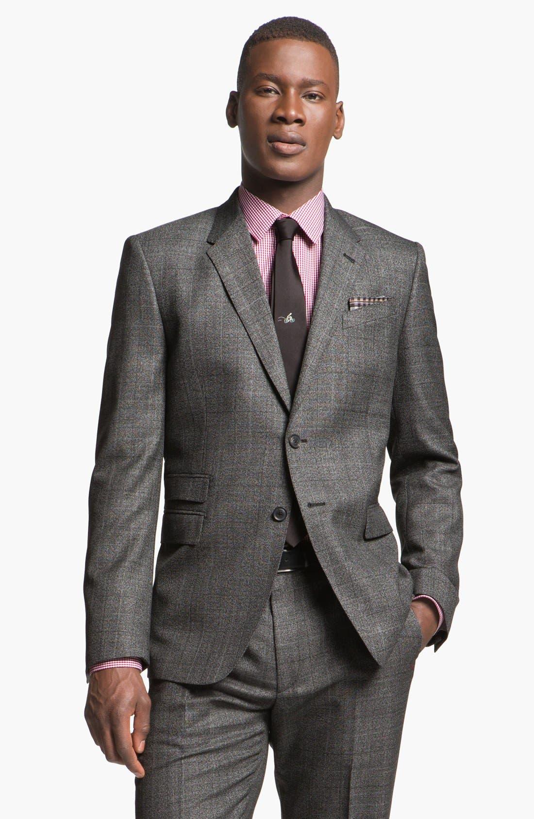 Alternate Image 4  - Paul Smith London Slim Fit Plaid Wool Suit