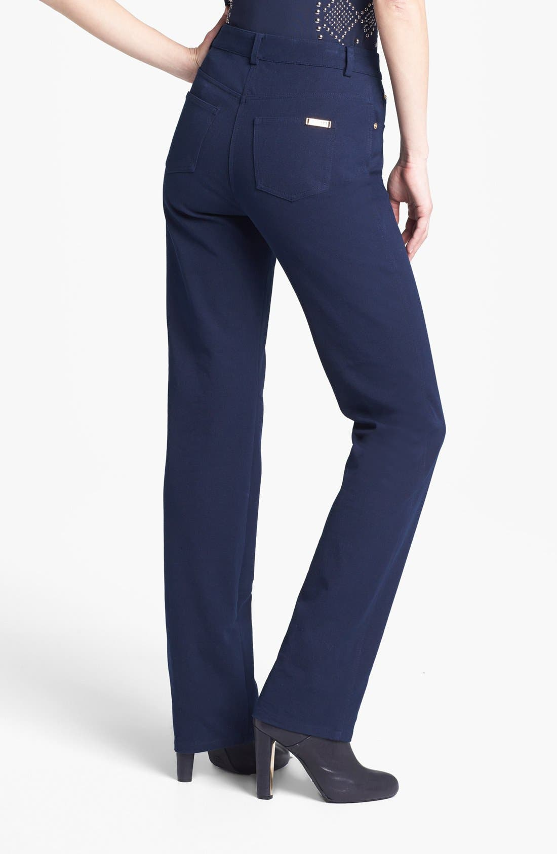 Alternate Image 4  - St. John Yellow Label 'Marie' Straight Leg Twill Pants