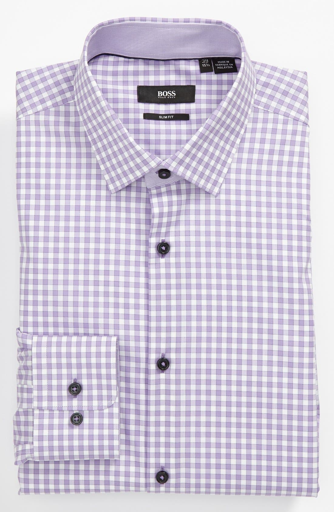 Main Image - BOSS HUGO BOSS Slim Fit Linen Blend Dress Shirt