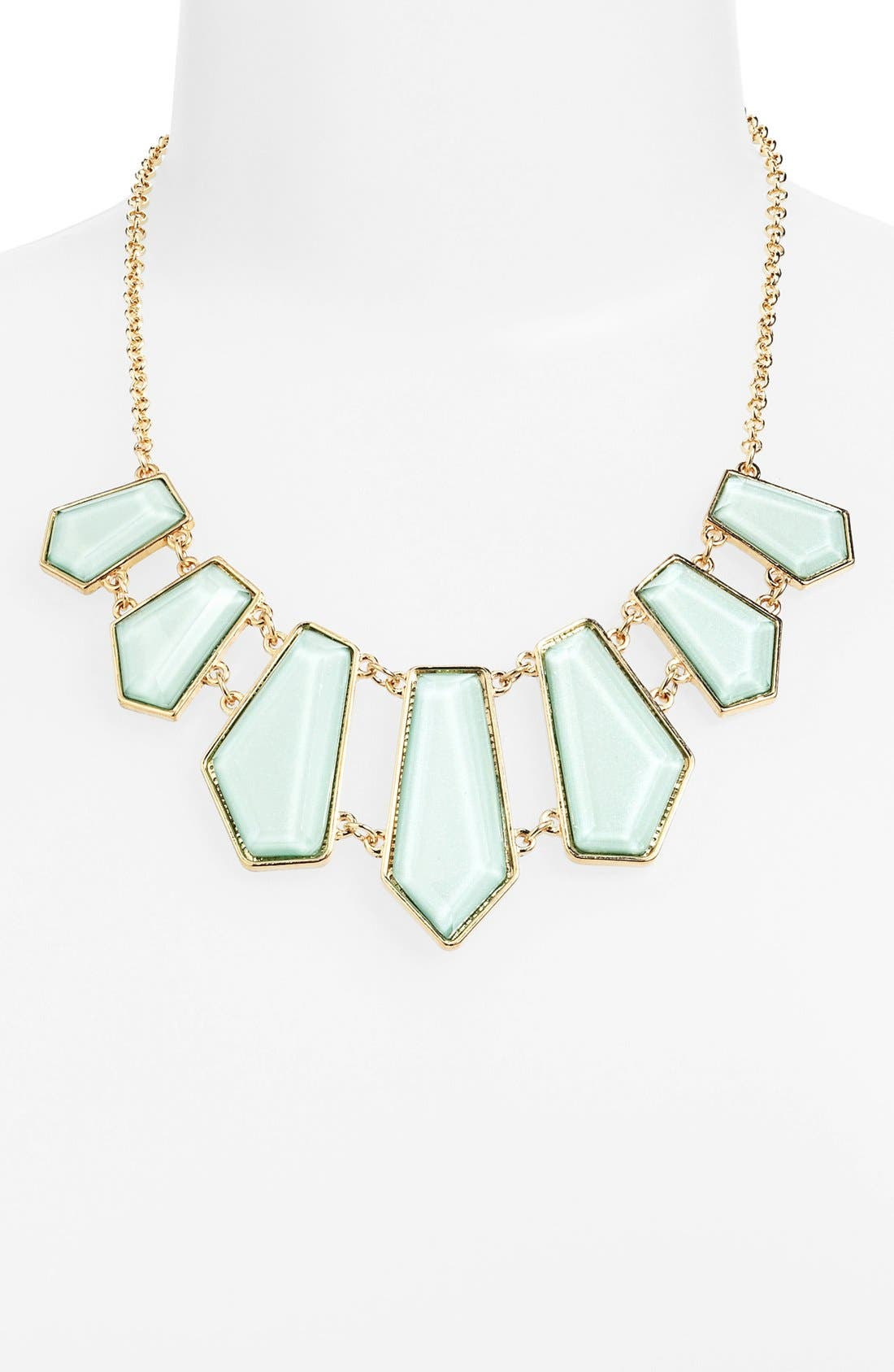Alternate Image 1 Selected - Stephan & Co. Geometric Bib Necklace (Juniors)