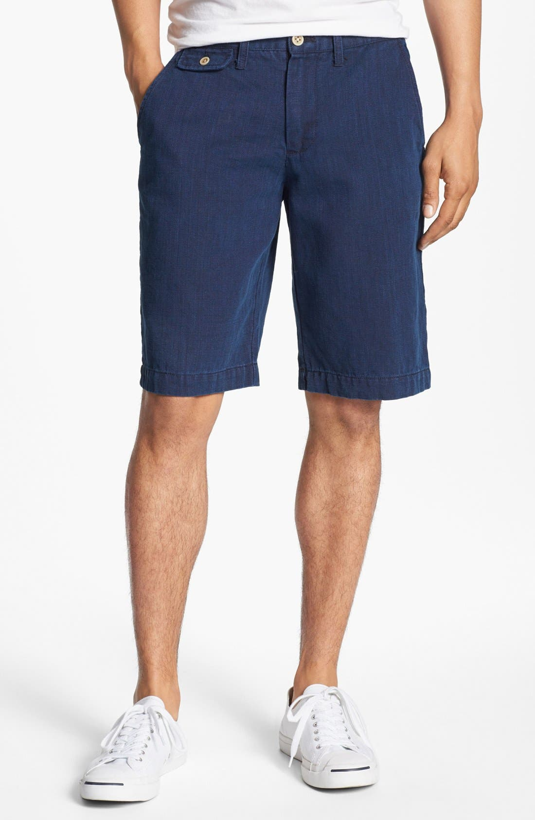 Alternate Image 1 Selected - Just A Cheap Shirt 'Guam' Linen Shorts