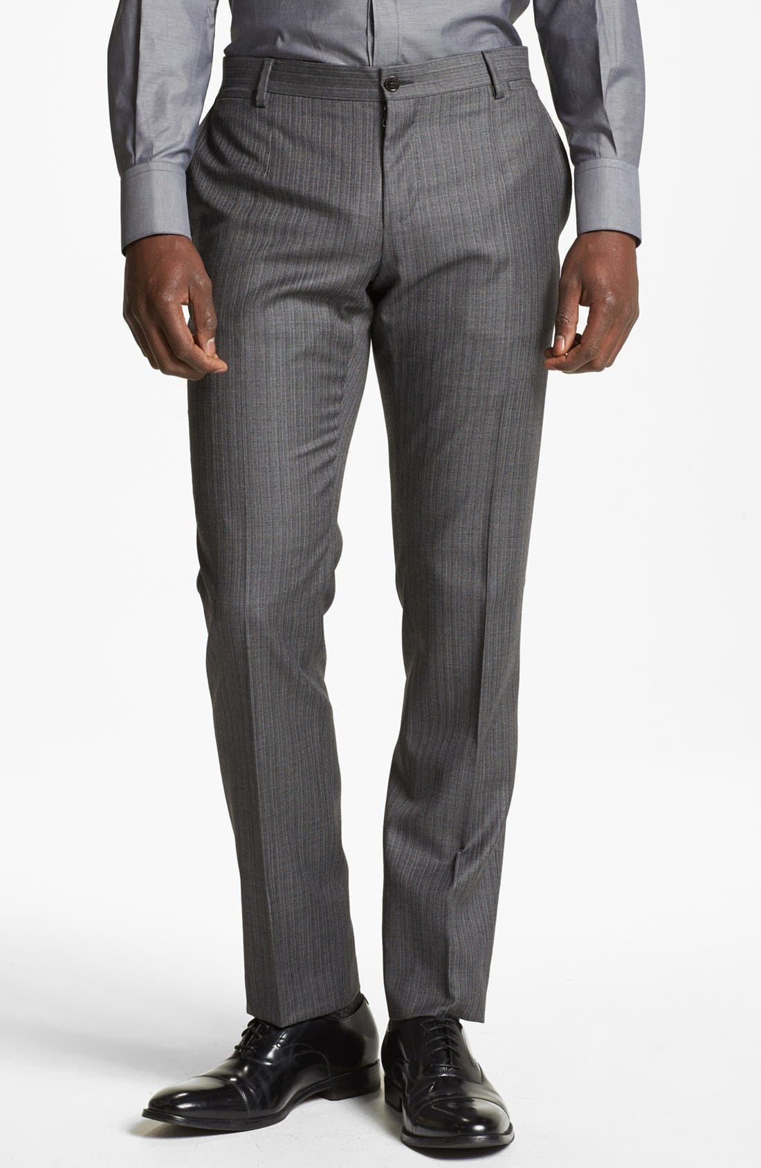 Alternate Image 5  - Dolce&Gabbana 'Martini' Herringbone Wool Suit