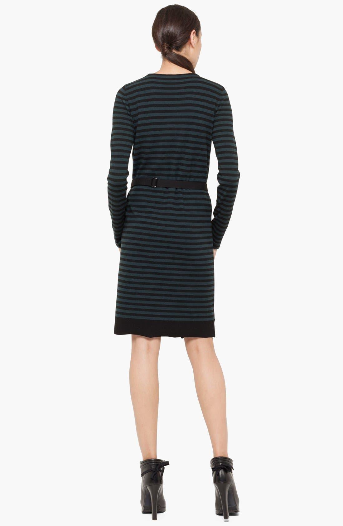 Alternate Image 2  - Akris punto Stripe Layered Wool Dress