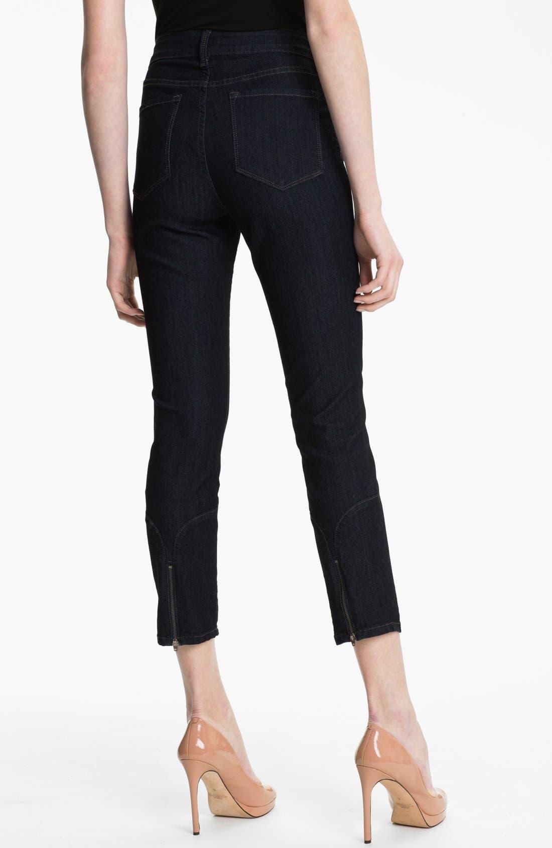 Alternate Image 2  - NYDJ 'Jill' Zip Hem Stretch Crop Jeans (Petite)