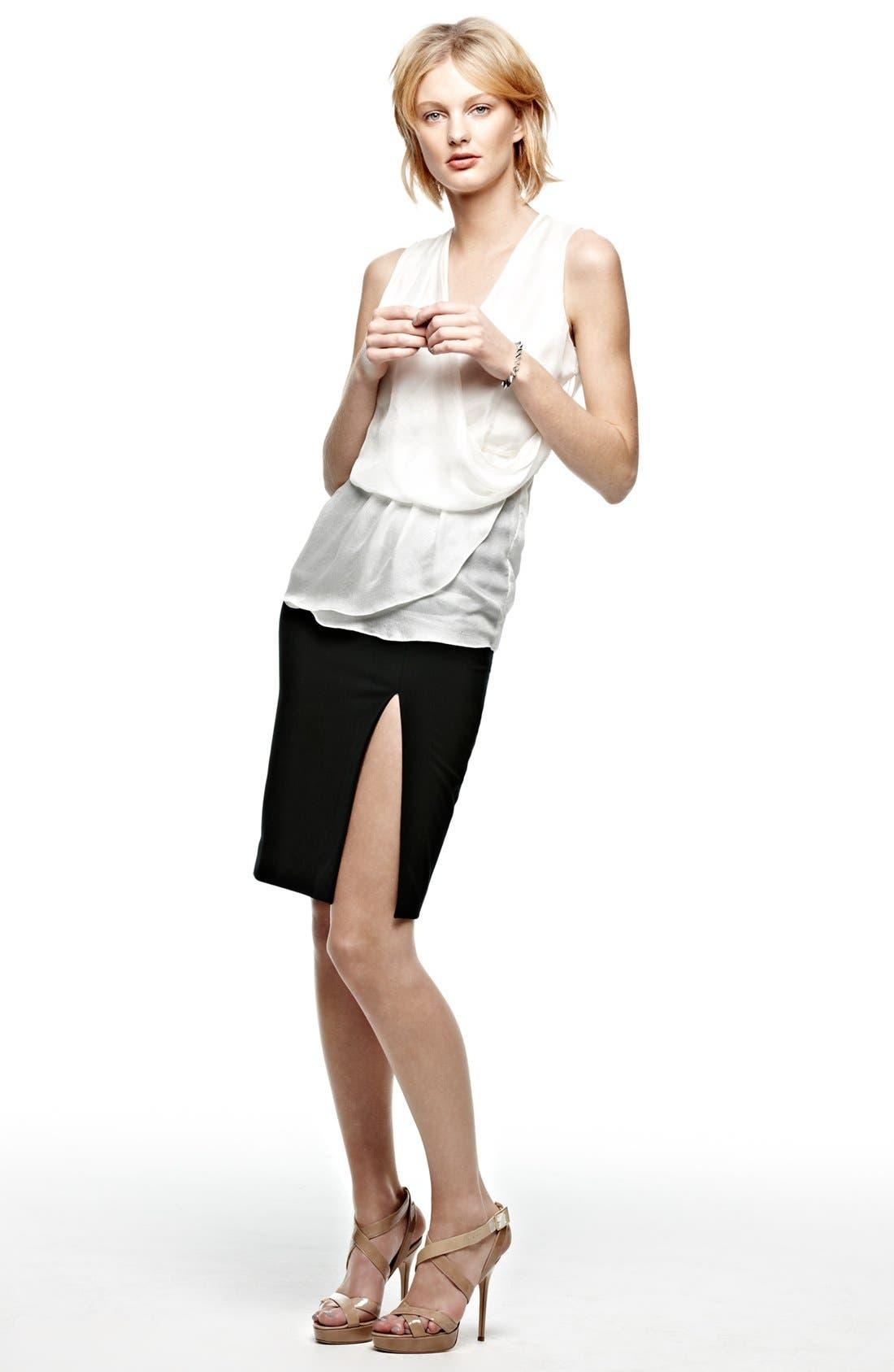 Alternate Image 4  - L'AGENCE High Slit Pencil Skirt
