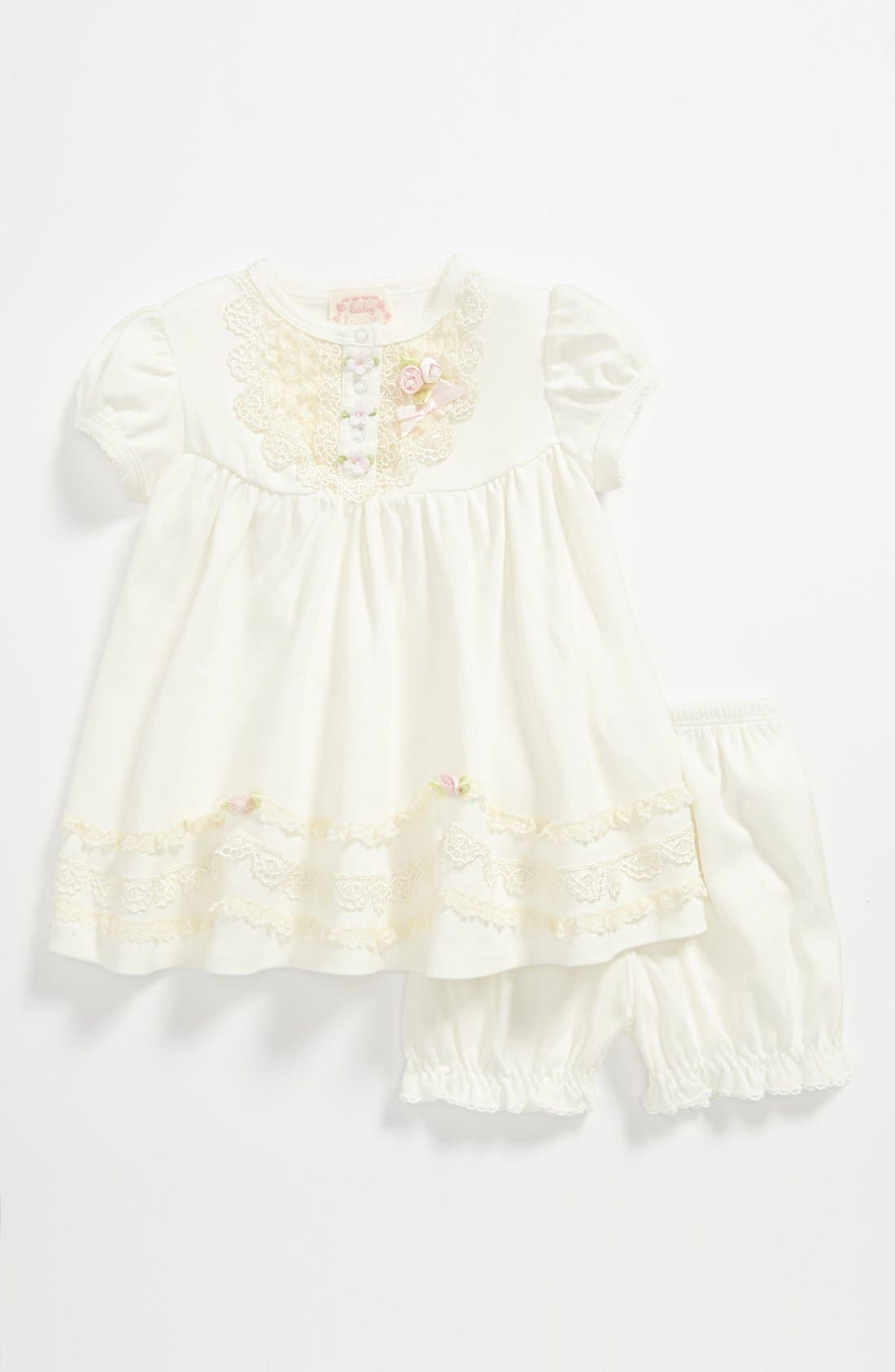 Alternate Image 1 Selected - Biscotti Dress & Bloomers (Baby Girls)