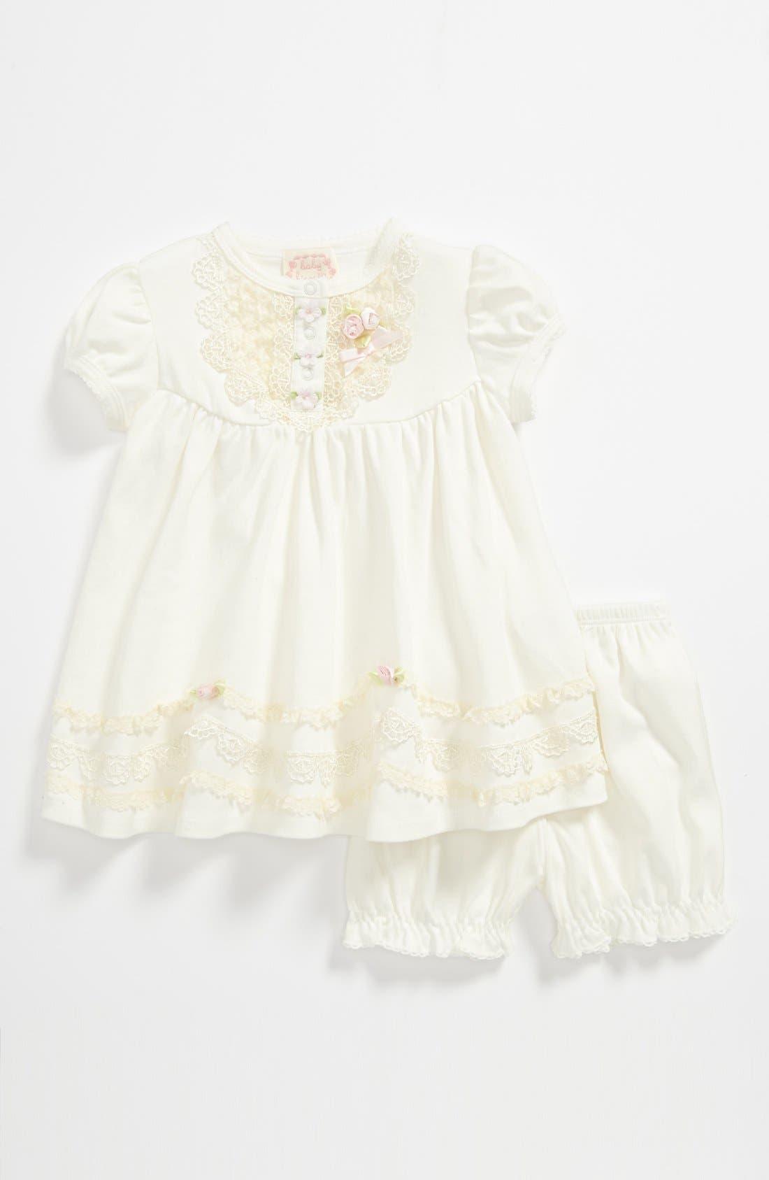 Main Image - Biscotti Dress & Bloomers (Baby Girls)
