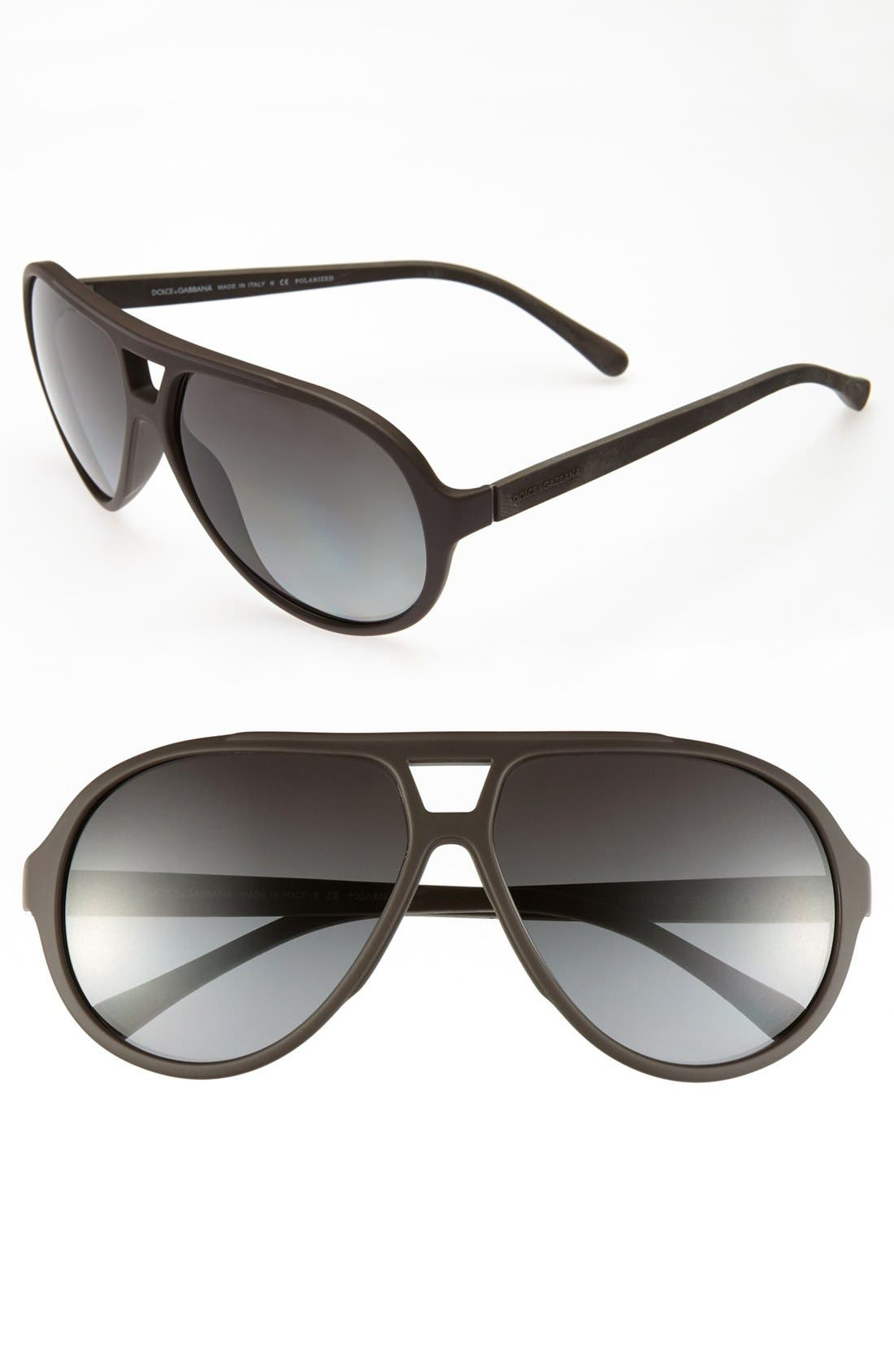 Main Image - Dolce&Gabbana 61mm Polarized Aviator Sunglasses