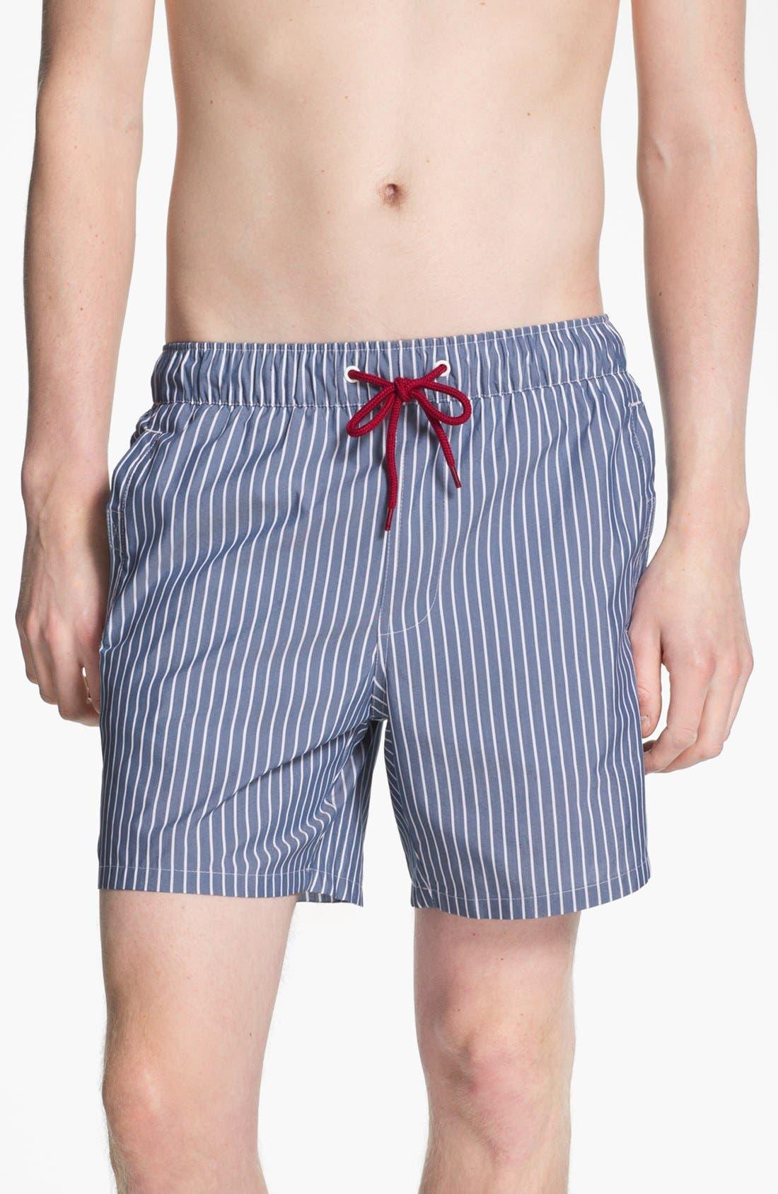Alternate Image 1 Selected - Topman Stripe Swim Trunks