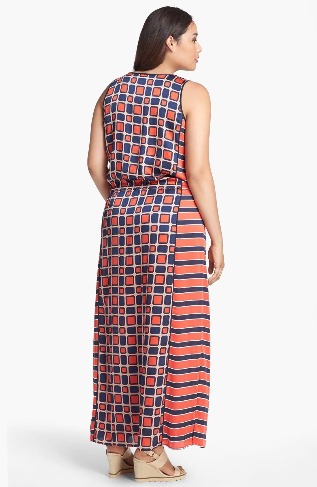 Alternate Image 2  - MICHAEL Michael Kors 'Soho Square' Sleeveless Maxi Dress (Plus Size)
