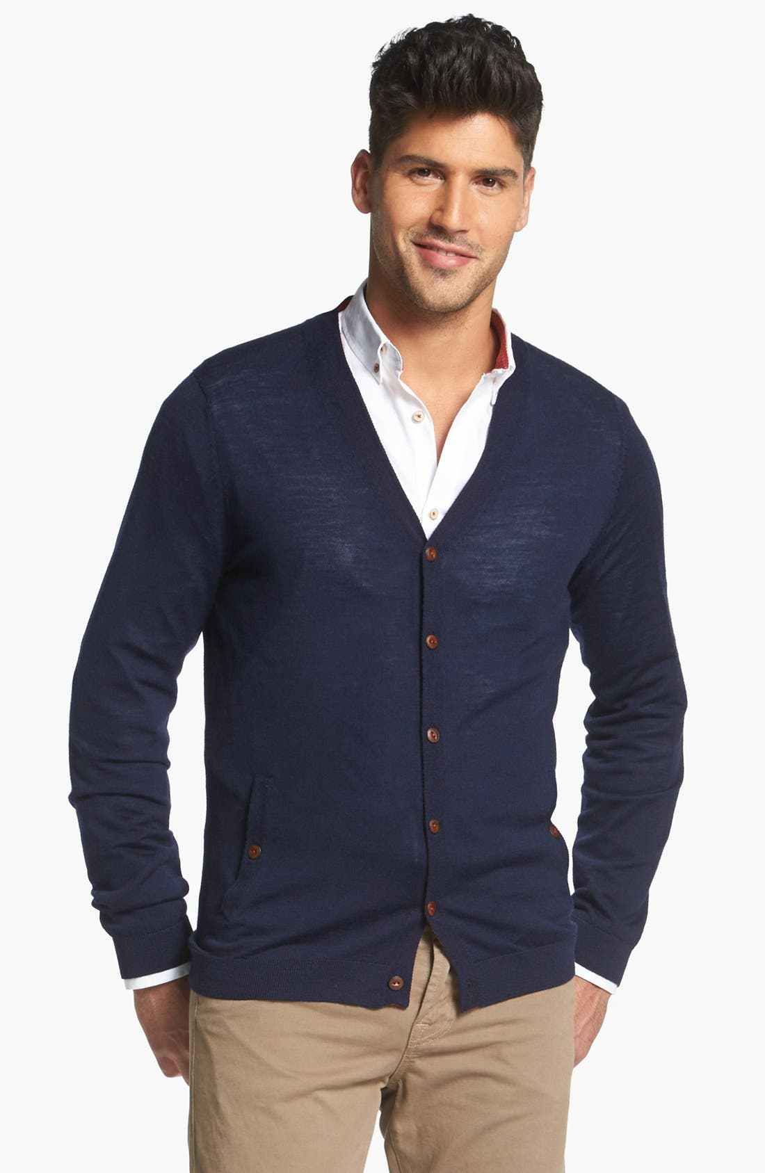 Alternate Image 2  - Ted Baker London Cardigan & 7 For All Mankind® Jeans