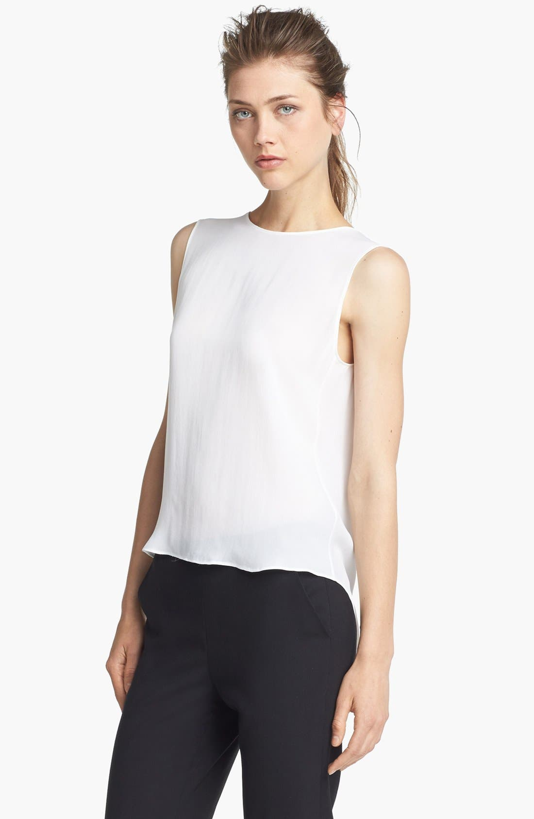 Alternate Image 2  - Theyskens' Theory 'Boomy Faloon' High/Low Silk Top