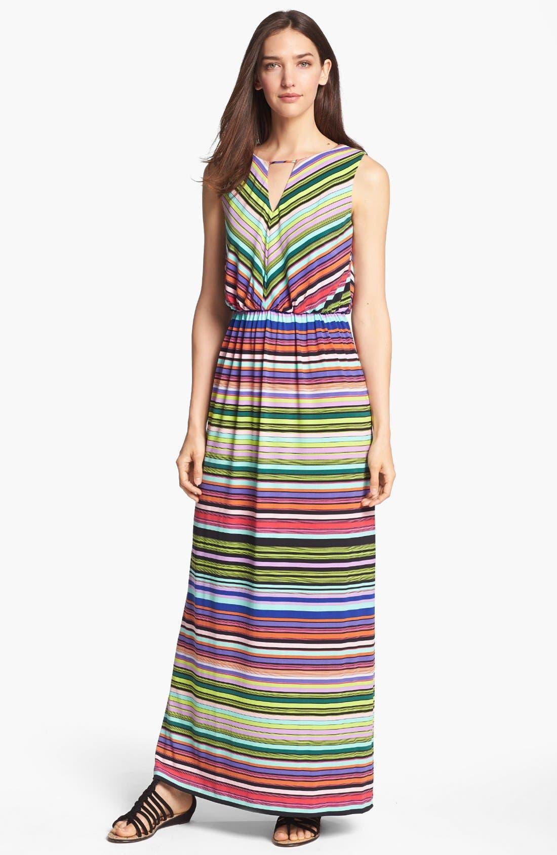 Alternate Image 1 Selected - Ivy & Blu Stripe Jersey Maxi Dress