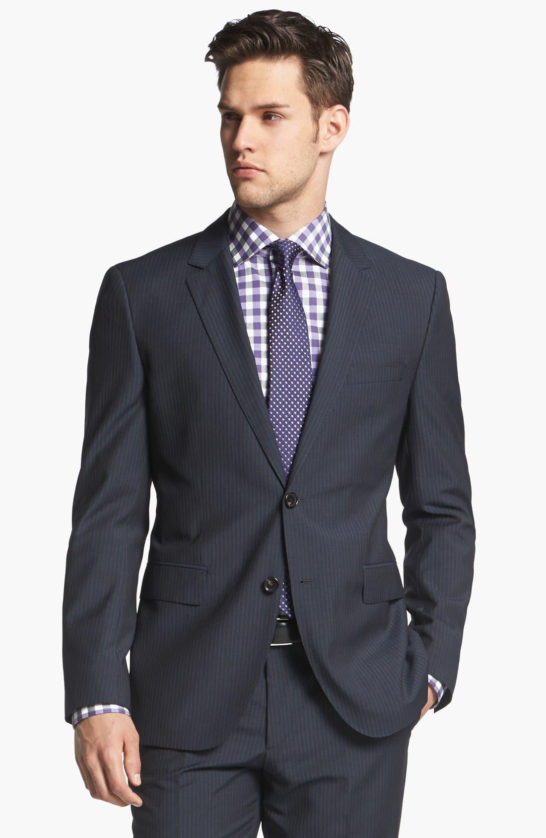 Alternate Image 3  - BOSS Black Suit & Calibrate Dress Shirt