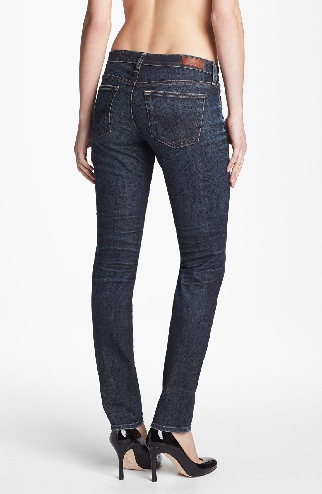 Alternate Image 2  - AG 'The Stilt' Cigarette Leg Stretch Jeans (4 Year Coastline)