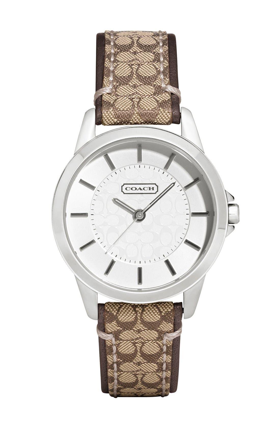 Main Image - COACH 'Classic Signature' Logo Strap Watch