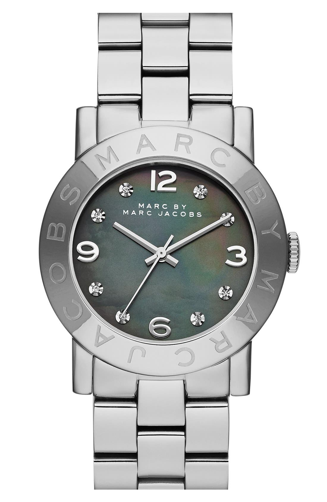 Alternate Image 1 Selected - MARC JACOBS 'Amy' Mother-of-Pearl Dial Watch, 37mm