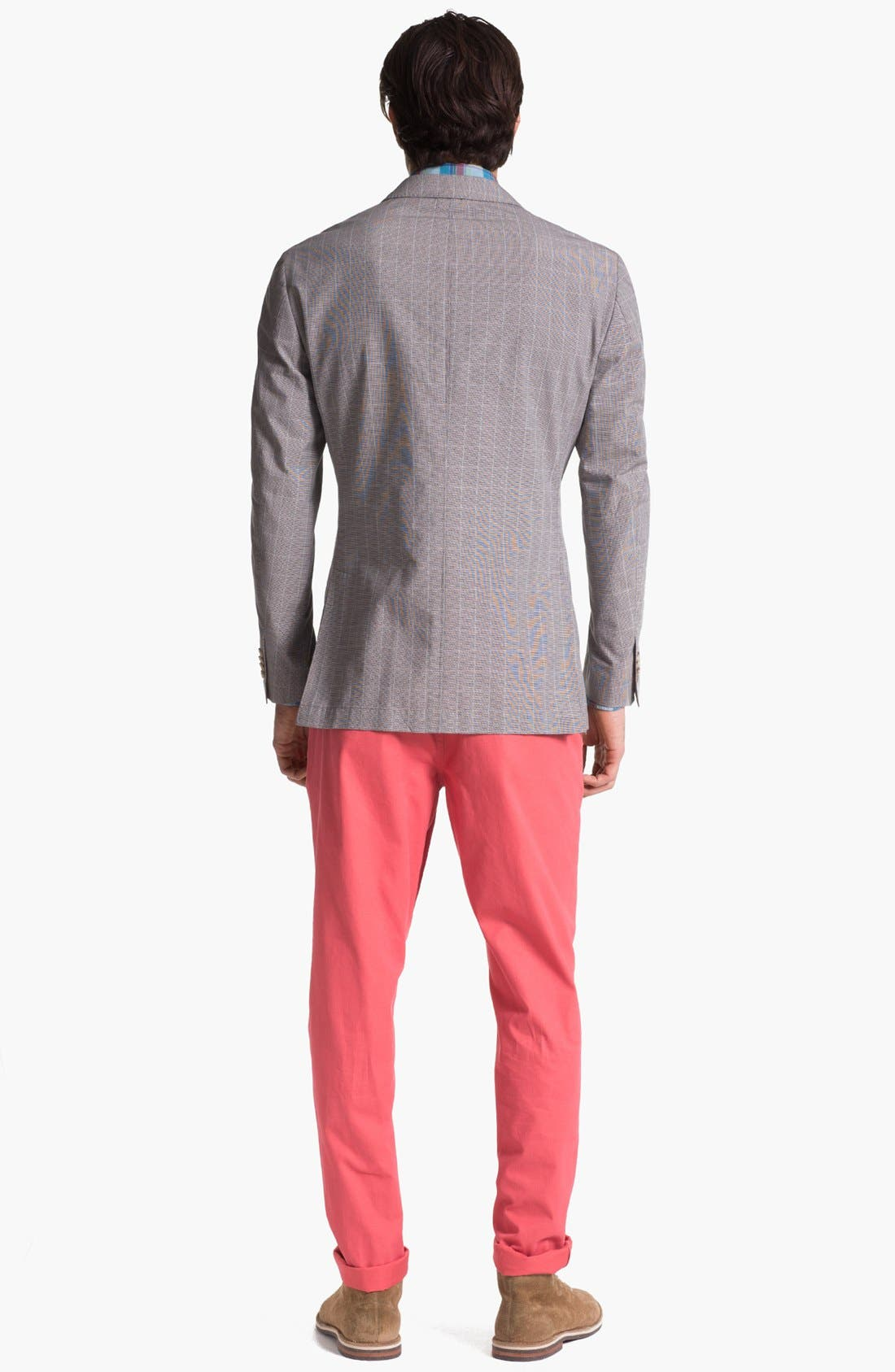 Alternate Image 4  - Façonnable Tailored Denim Plaid Sport Shirt