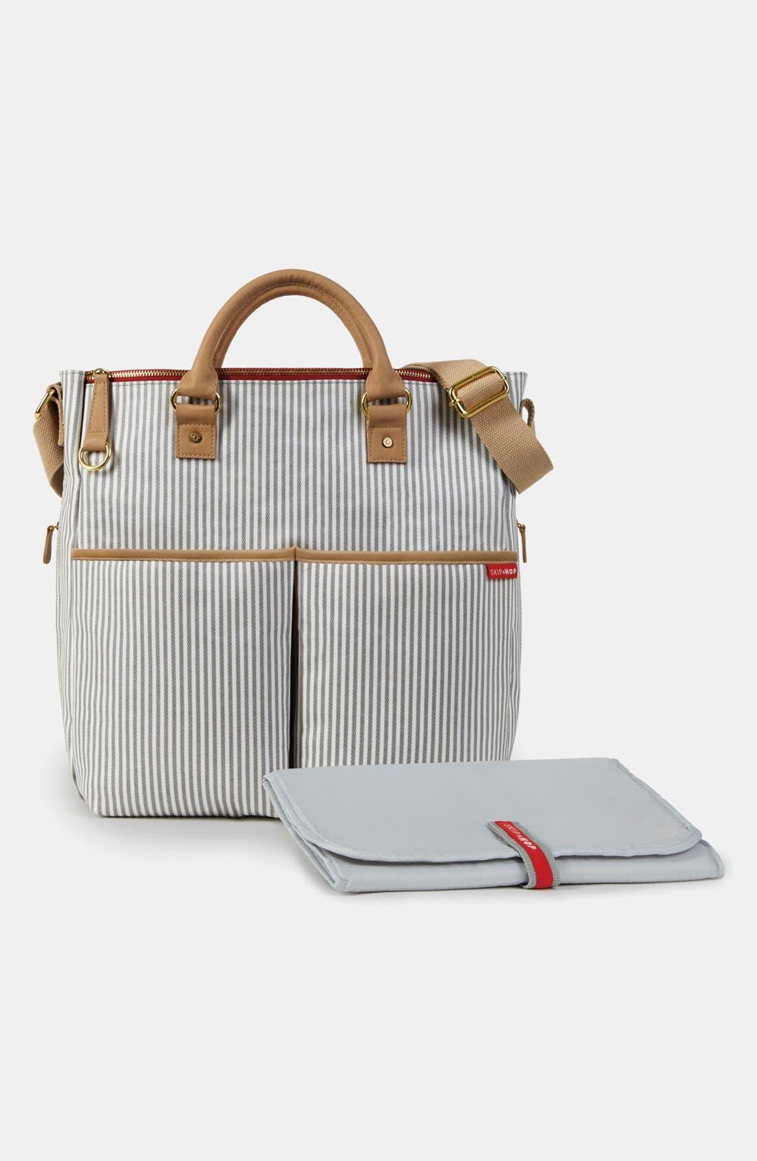 'Duo' Diaper Bag,                             Alternate thumbnail 5, color,                             Grey