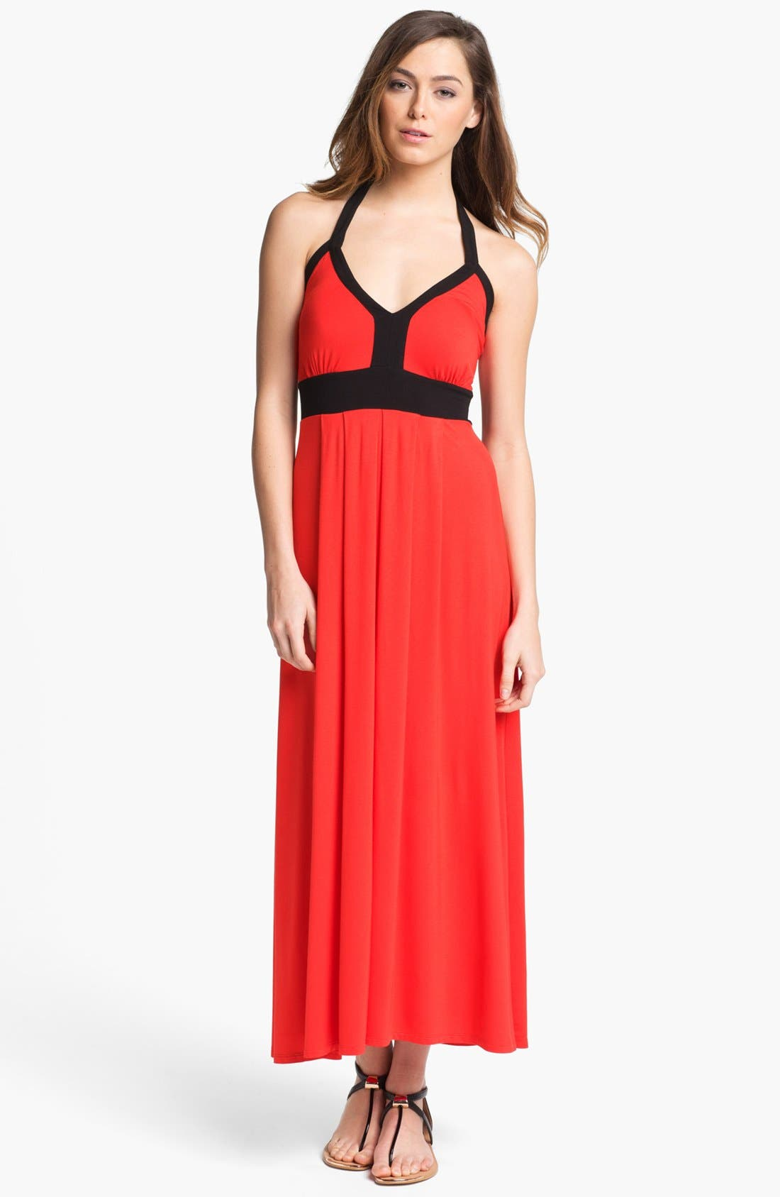 Alternate Image 1 Selected - Calvin Klein Empire Waist Maxi Dress