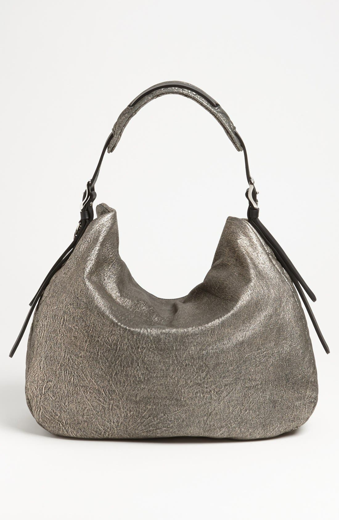 Alternate Image 4  - Jimmy Choo 'Large Boho' Metallic Suede Hobo