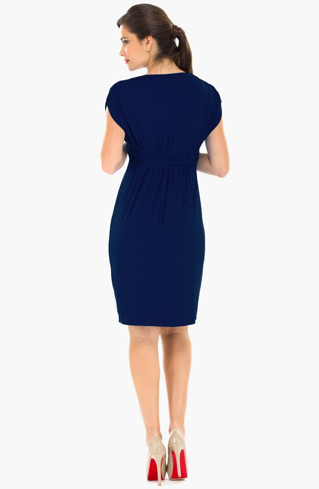 Alternate Image 2  - Olian Sleeveless Maternity Dress