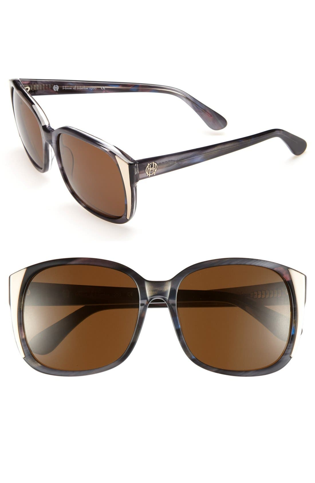 Alternate Image 1 Selected - House of Harlow 1960 'Julie' 57mm Oversized Sunglasses
