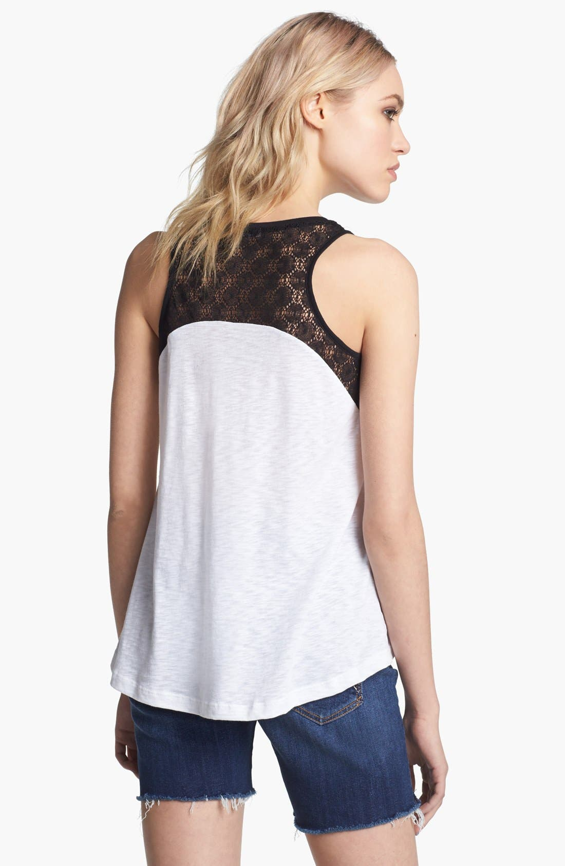 Alternate Image 2  - Splendid Lace Trim Tank