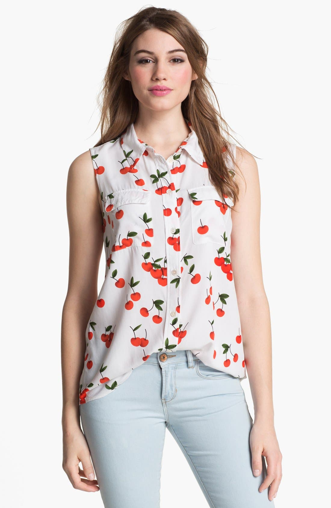 Alternate Image 1 Selected - Two by Vince Camuto Print Sleeveless Shirt