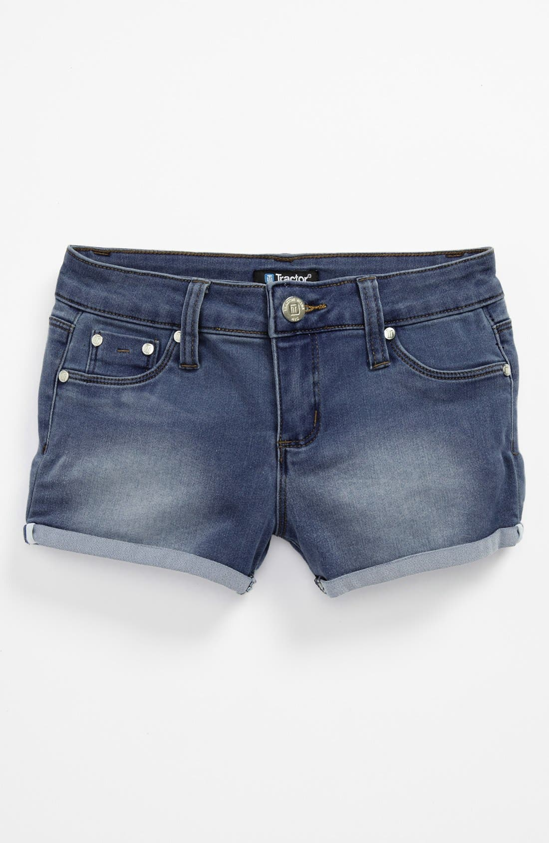 Alternate Image 1 Selected - Tractr 'Roll Up' Shorts (Big Girls)